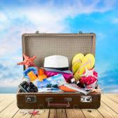 Summer, packed, bag. — Stock Photo