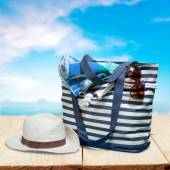 Beach, Bag, Group of Objects. — Stock Photo
