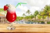 Cocktail, Daiquiri, Strawberry. — Stock Photo