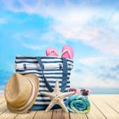 Beach, Summer, Group of Objects. — Stock Photo