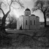 Ancient Cathedral in Chernigov, Ukraine, 6х6 film — Stock Photo
