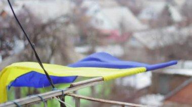 Bandera ucraniana — Vídeo de stock