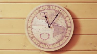 The wall clock. Time lapse — Vídeo de stock
