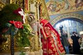 Liturgy at St. Michael's Cathedral — Stock Photo