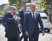 Donald Tusk in Kiev — Stock Photo