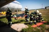 Emergency landing — Stock Photo