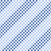 Seamless diagonal geometric pattern with polka dots. — Stock Vector