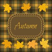 Jesień tło z liści klonu — Wektor stockowy
