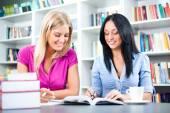 Uczniów uczących się w bibliotece — Zdjęcie stockowe