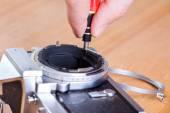 Repairing camera — Stock Photo