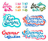 Summer Season Set — Stock Vector