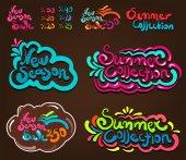 Summer Season Set — Stock Vector