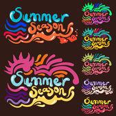 Summer Season — Stock Vector