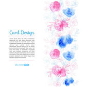 Diseño de la tarjeta de flor — Vector de stock