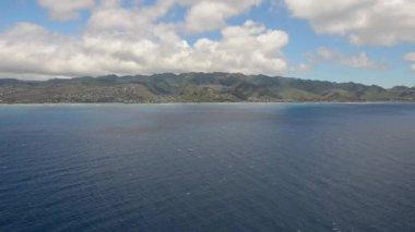 Oahu and Diamond Head volcano — Stock Video