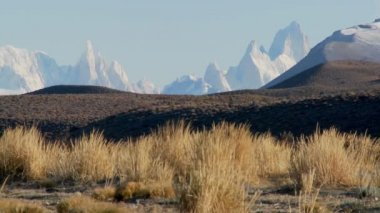 Mountain range of Fitzroy in Patagonia — Stock Video