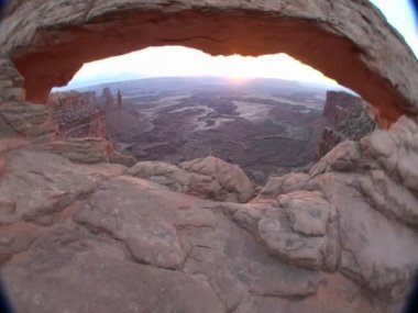 Mesa Arch in Canyonlands National Park — Stock Video