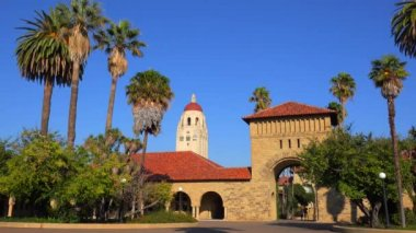 Stanford University campus at Palo Alto — Stock Video
