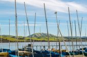Little Boat Harbor in Northern California — Stock Photo