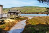 Old Pier House in Northern California — Stock Photo