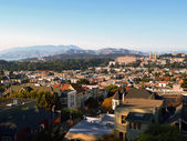 View of Neighborhood in San Francisco, California — Stock Photo