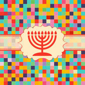 Religione di Hanukkah candele — Vettoriale Stock