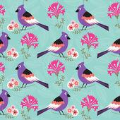 Blommig våren mönster — Stockvektor