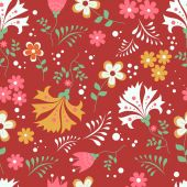 Seamless floral patter — Vetor de Stock