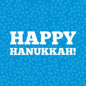 Happy Hanukkah card — Stock Vector