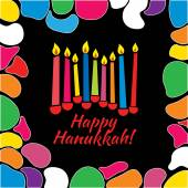Hanukkah card with candles — Stock Vector
