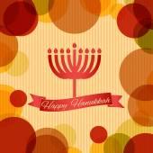 Card with text happy hanukkah — Stock Vector