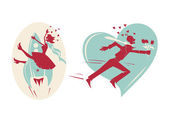 Happy Valentine's day cards — 图库矢量图片