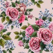 Watercolor roses floral pattern — Stock Photo #66408773