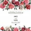 Watercolor Greeting card with roses — Stock fotografie #66409217