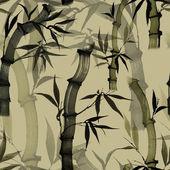 Modello senza cuciture floreale con bambù — Foto Stock