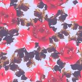 Watercolor pattern with roses — ストック写真
