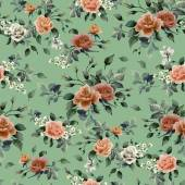 Red and pink roses pattern — Stock fotografie