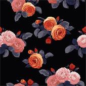 Florales muster mit rosen — Stockvektor