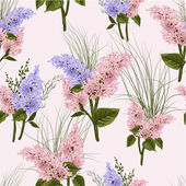 Floral pattern with lilac — Stock Vector