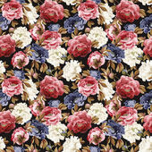 Floral pattern with roses — Stock Photo