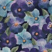 Watercolor pansy pattern — Stock fotografie