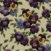 Watercolor pattern with pansy — Zdjęcie stockowe