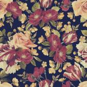 Florales muster mit rosen — Stockfoto
