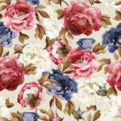 Watercolor peonies pattern — Stock Photo