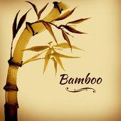 Открытка из бамбука — Стоковое фото