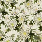 Watercolor pattern with chrysanthemum — Stock Photo