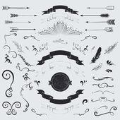 Decorative elements set — Stock Vector