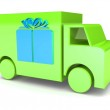 Colorful toy truck — Stock Photo #65441957