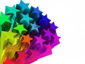 Colorful stars comet — Foto Stock