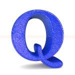 3d violet letter Q — Stock Photo #65670937